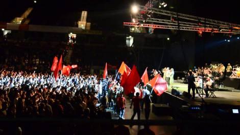 Grup Yorum Konzert fand trotz Einreiseverbot der Musiker erfolgreichstatt