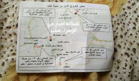"""""""Rebellen"""" hindern Menschen im eingeschlossenen Ostteil Aleppos an derFlucht"""