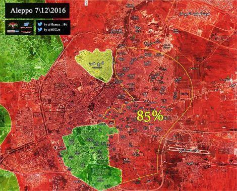 Syrische Armee eliminiert Terroristentasche inAleppo