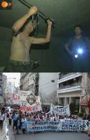 Burt, der Schwertkämpfer aus der Kanalisation von Las Vegas zieht wegen eines Jobs nach Argentinien und lerntSolidarität