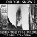 Das Empire State Building hat im Gegensatz zu den Türmen des World Trade Centers den Einschlag eines Flugzeuges nur leicht beschädigtüberlebt
