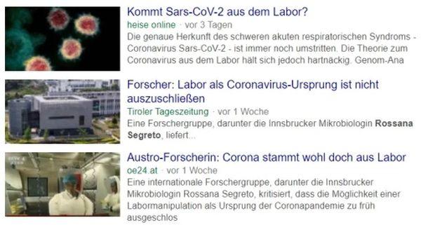 Theorie eines Laborursprungs des Coronavirus in China durch Berichte über zeitlich weit vor dem Ausbruch in Wuhan liegende Nachweise von COVID-19 Viren in Europa und den USA klar widerlegt.