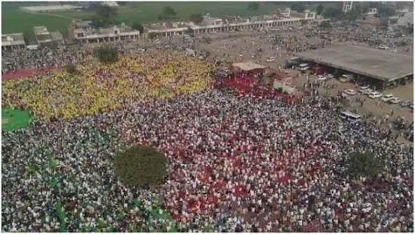 Einheit der Bauern und Arbeiter bei der Barnala Rally